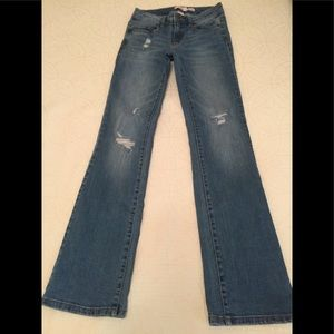 Bongo bootcut ripped blue jeans size 4